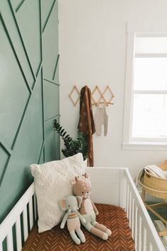 Baby Bedroom, Baby Boy Rooms, Baby Boy Nurseries, Baby Room Decor, Baby Cribs, Nursery Room, Nursery Decor, Baby Nursery Neutral, Accent Wall Nursery