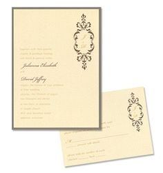 Scarlett 2-Layer Wedding Invitations by MyGatsby.com