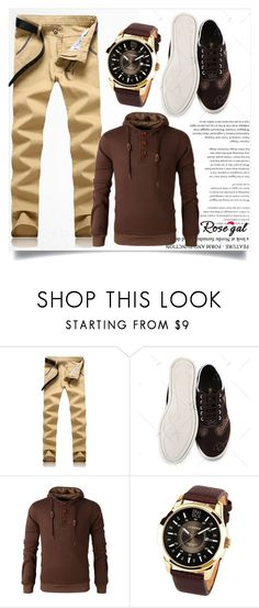 """""""Rosegal Men"""" by zenabezimena ❤ liked on Polyvore featuring MensFashion, fashionset and rosegal"""