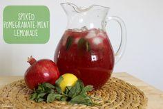 Summer Drink Series: Spiked Pomegranate-Mint Lemonade #cocktail