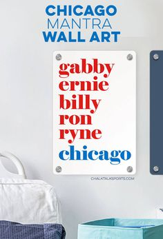 Decorate your favorite room with your Cubs pride! Baseball Room Decor, Gifts For Baseball Players, Personalised Frames, Room Signs, Metal Wall Art, Cubs, Pride, Great Gifts, Chicago