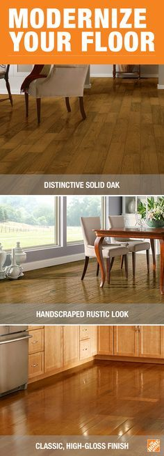 Get a modern look in your home with the latest in flooring trends, like hardwood from the Bruce Plano Collection at The Home Depot. From classic high-gloss and beveled-edge planks to durable finishes that protect high-traffic areas, you'll find the right style of hardwood for every room in your house.