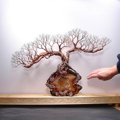 Wire Tree Of Life Sculpture Soul Mate Oak Tree by CrowsFeathers