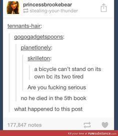 Hahaha I love when fandoms hijack posts.