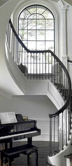Here are the Grand Staircase Design Ideas For Amazing Home. This article about Grand Staircase Design Ideas For Amazing Home was posted under the category by our team at March 2019 at pm. Hope you enjoy it and . Stairs Window, Front Stairs, House Stairs, Window Seats, Grand Staircase, Staircase Design, Spiral Staircase, Chandelier Staircase, Luxury Staircase