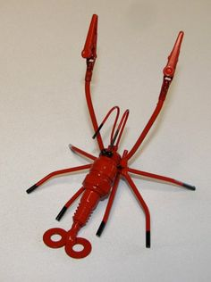 Shrimp from recycled metal components, by Metalmorph