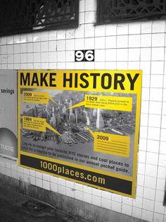 NYC: 1000 places by Joshua Carpenter, via Behance