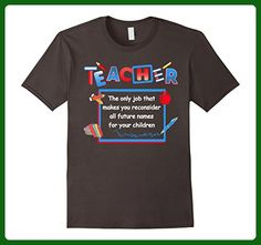 Mens BeeTee: Teacher Reconsiders Children's Names - Funny T-Shirt 2XL Asphalt - Careers professions shirts (*Amazon Partner-Link)