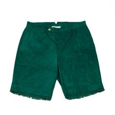 "Green cotton twill ""Mainland"" shorts 