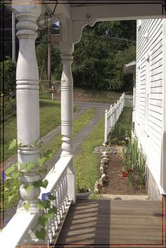 "This Side Kitchen Porch (by YawningDog, via Flickr) looks like the one on the ""old house"" when I was a little girl."