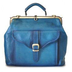Pratesi Mary Poppins Tas Bruce Blue. #bag #blue #pratesi #leather
