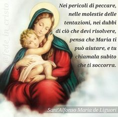 Devozione a Maria Virgin Mary, Madonna, Fictional Characters, Amen, Instagram, Words, Messages, Father, Prayers