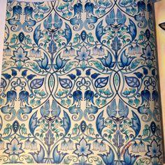 Blue vines. Enchanted Forest, Johanna Basford.  cathyc.  pencil crayons.