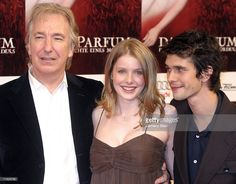 Alan Rickman (L), British actor Ben Whishaw (R) and British actress Rachel Hurd-Wood (C), attend the premiere of the film 'Das Parfum' September 8, 2006 in Berlin, Germany.
