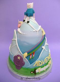 Adventure Time Cake by Gina's Cakes