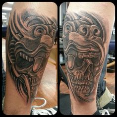 Custom aztec jaguar skull design done at pachuco tattoo for How to email a tattoo artist
