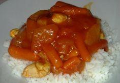 Édes-savanyú csirke rizzsel Virától Stuffed Peppers, Vegetables, Recipes, Food, Stuffed Pepper, Recipies, Essen, Vegetable Recipes, Meals