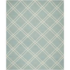 Safavieh Dhurries Light Blue/Ivory Area Rug & Reviews | Wayfair