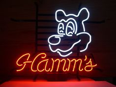 Hamm's Beer Pub Sign (Real Glass/Neon)