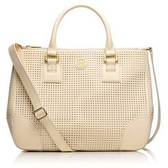 Tory Burch Robinson Perforated Double-Zip Tote