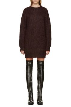 T by Alexander Wang Mohair Tunic Sweater Dress 8d192843be
