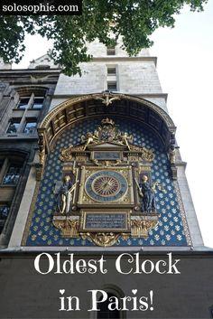 oldest public clock in paris conciergerie