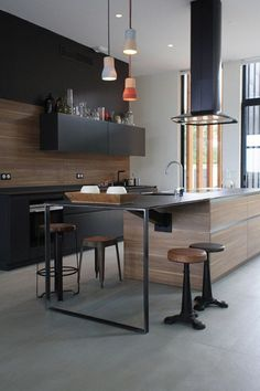99 veces he visto estas radiantes cocinas minimalistas. Modern Kitchen Design, Interior Design Kitchen, Kitchen Decor, Interior Decorating, European Kitchens, Home Kitchens, Handleless Kitchen, German Kitchen, Minimalist Kitchen