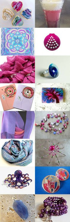A nod to Talent, Pink, Purple and Blue by Norbel Marolla on Etsy--Pinned with TreasuryPin.com 1