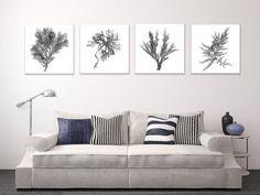 grey nautical decor + canvas wall art