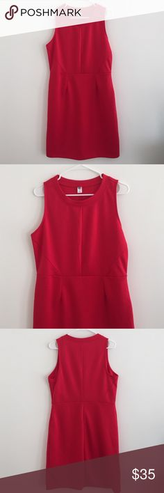 "Red Dress Beautiful Red Dress. 84% polyester 16% Rayon. 20"" armpit to armpit. 18"" waist. 38"" shoulder to bottom. Dresses"