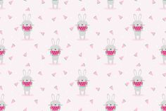 Cute Bunny Eat Watermelon Seamless (Graphic) by thanaporn. Affinity Designer, Creative Sketches, Graphic Patterns, Pencil Illustration, Paint Markers, Cute Bunny, Business Card Logo, Watercolor And Ink, Free Design