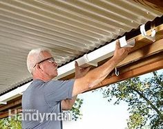 to Build an Under-Deck Roof Catch the runoff from the under-deck roof with gutters and a downspout.Catch the runoff from the under-deck roof with gutters and a downspout. Living Pool, Outdoor Living, Outdoor Rooms, Outdoor Patios, Under Deck Roofing, Under Deck Ceiling, Deck Ceiling Ideas, Porch Ceiling, Under Deck Storage