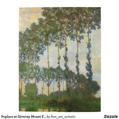 Poplars at Giverny Monet Fine Art Jigsaw Puzzle