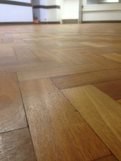Gap filling and resealing can transform old herringbone flooring. Hardwood Floors, Flooring, Herringbone, Gap, Restoration, Canning, Wood Floor Tiles, Wood Flooring, Home Canning