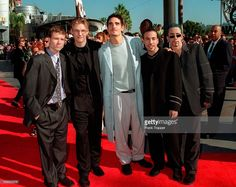 (Original Caption) The Backstreet Boys arrive. They won an award for best group video. (Photo by Frank Trapper/Corbis via Getty Images)