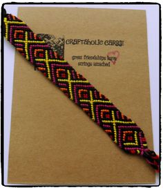 Woven Friendship Bracelet #53910 by CraftaholicCarrie on Etsy