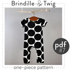 Baby sewing pattern pdf onepiece coverall door brindilleandtwig, $9,50