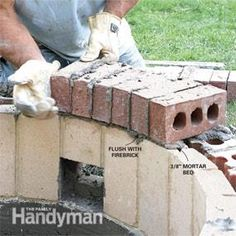 Masonry Tips for fire pit, supply list and step by step