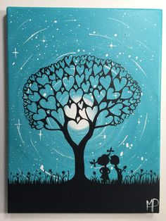 The tree of love 9 x 12 acrylic on canvas by MichaelHProsper