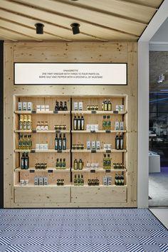 Vitra Village by Studio Joanna Laajisto Supermarket Design, Retail Store Design, Retail Shop, Small Store Design, Retail Displays, Shop Displays, Merchandising Displays, Window Displays, Showroom Interior Design