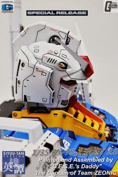 GUNDAM GUY: G-System 1/35 RX-78-2 Gundam Ver. 2.0 Bust - Painted Build