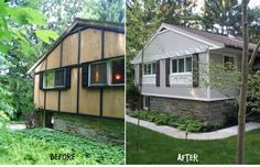 mobile home remodels before and after | More Before / After..., Home exterior updated ..., Home Exteriors ...