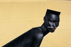 Portrait of model, actor, and singer Grace Jones, France, by Jean-Paul Goude. Grace Jones, Jean Paul Goude, Jean Paul Gaultier, V Magazine, Afro Punk, Laetitia Casta, Gouda, Androgyny, Androgynous Style