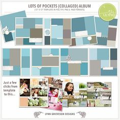 Lots of Pockets Collaged by Lynn Grieveson (The Lily Pad).