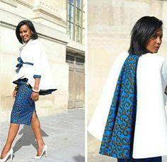 "**** ELIE KUAMé **** Mode] 7 inspirations looks en wax pour la ""Working girl . African Attire, African Wear, African Women, African Inspired Fashion, African Print Fashion, African Print Dresses, African Fashion Dresses, African Prints, Ankara Jackets"