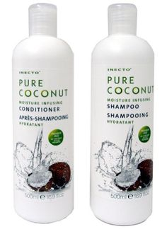 Keyline Brands Limited Inecto Pure Coconut Shampoo   Conditioner Moisture infusing shampoo to hydrate and revitalise hair Infused with 100% pure organic coconut oil to cleanse and nourish leaving hair shiny, soft and beautifully scente (Barcode EAN = 0798627743522) http://www.comparestoreprices.co.uk/december-2016-6/keyline-brands-limited-inecto-pure-coconut-shampoo- -conditioner.asp