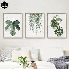 Scandinavian Hanging Leaf Wall Art This Scandinavian style leaf art print will bring some green to your living space. It is made out of canvas and does not come with a frame. Material: Canvas Medium: Waterproof Ink Frame: No Stretched…More Leaf Wall Art, Leaf Art, Green Wall Art, Green Framed Art, Green Wall Decor, White Wall Decor, White Wall Art, Green Home Decor, Abstract Wall Art