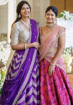 Wedding Saree Blouse Designs, Half Saree Designs, Lehenga Designs, Indian Gowns Dresses, Indian Fashion Dresses, Indian Bridal Lehenga, Lehenga Wedding, Half Saree Lehenga, Anarkali