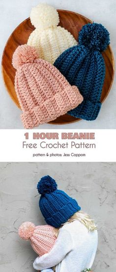 1 Hour Beanie Free Crochet Pattern Stretchy beanies are a great way to keep your bean warm on cold and blustery days. Quick and easy pattern, good for beginners! patterns free beginner beanie Beanies in Under an Hour Free Crochet Patterns Bonnet Crochet, Crochet Beanie Pattern, Crochet Whale, Knit Crochet, Crotchet, Crochet Crafts, Crochet Projects, Easy Yarn Crafts, Crochet Hat Patterns