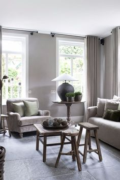 ○ neutral home nirvana ○ House of Peter and Marjanne - lovely neutrals Home Living Room, Interior, Home Decor, Country Style Interiors, House Interior, Home Deco, Living Room Inspiration, Interior Design, Home And Living
